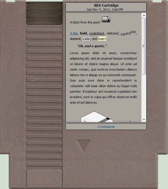 NES Cartridge by Lushbob