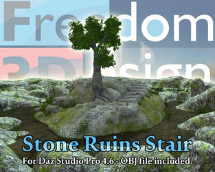 F3D Stone Ruins Stair by gendonk