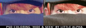Psd Coloring 'hide  Seek' By Little Alpha by PannaKim