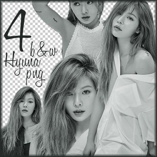 4 b-w Hyuna png by PannaKim