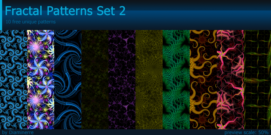 Fractal Patterns Set 2 by Diaminerre
