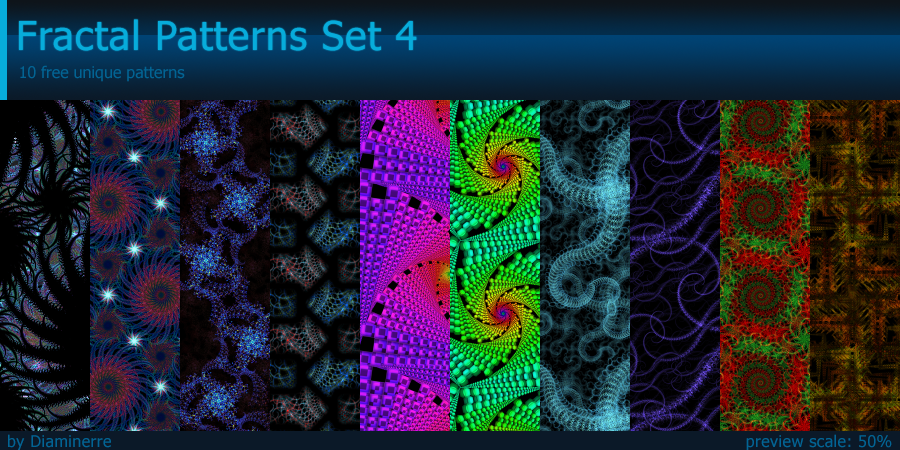 Fractal Patterns Set 4 by Diaminerre