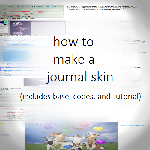 how to make a journal skin (free) by slakoths on DeviantArt