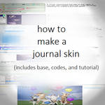 how to make a journal skin (free)