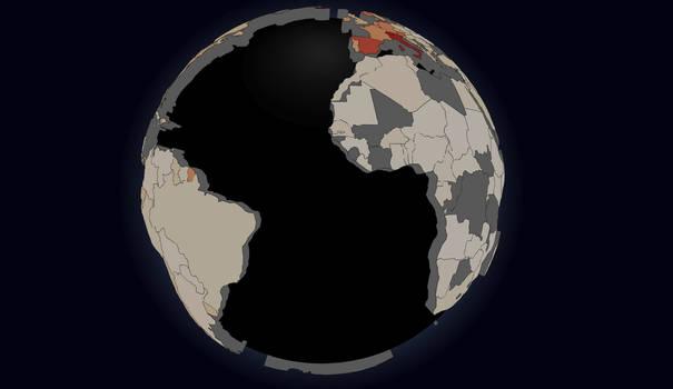 COVID-19 Globe (Live Updating)