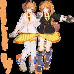 :MMD: Anon and Kanon V3 +Model DL