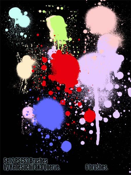 Set2 Splat SprayCan brushes