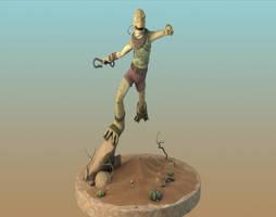 Knee Cape 3d turn around (work in progress) by EvilBeanz13