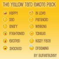 Yellow Tard Emote Pack entry by BurgerBunny