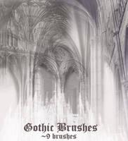 Gothic Brush Set by wyckedBrush