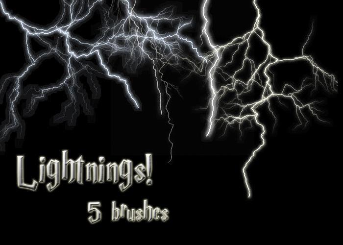 Lightning Brushes by wyckedBrush