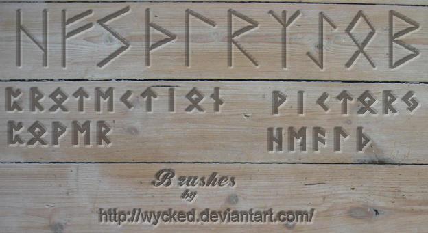 Runes Brushes by wyckedBrush