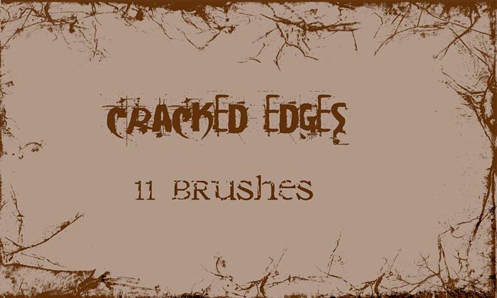 Cracked Edges - PS Brushes by wyckedBrush
