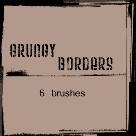 photoshop border brushes