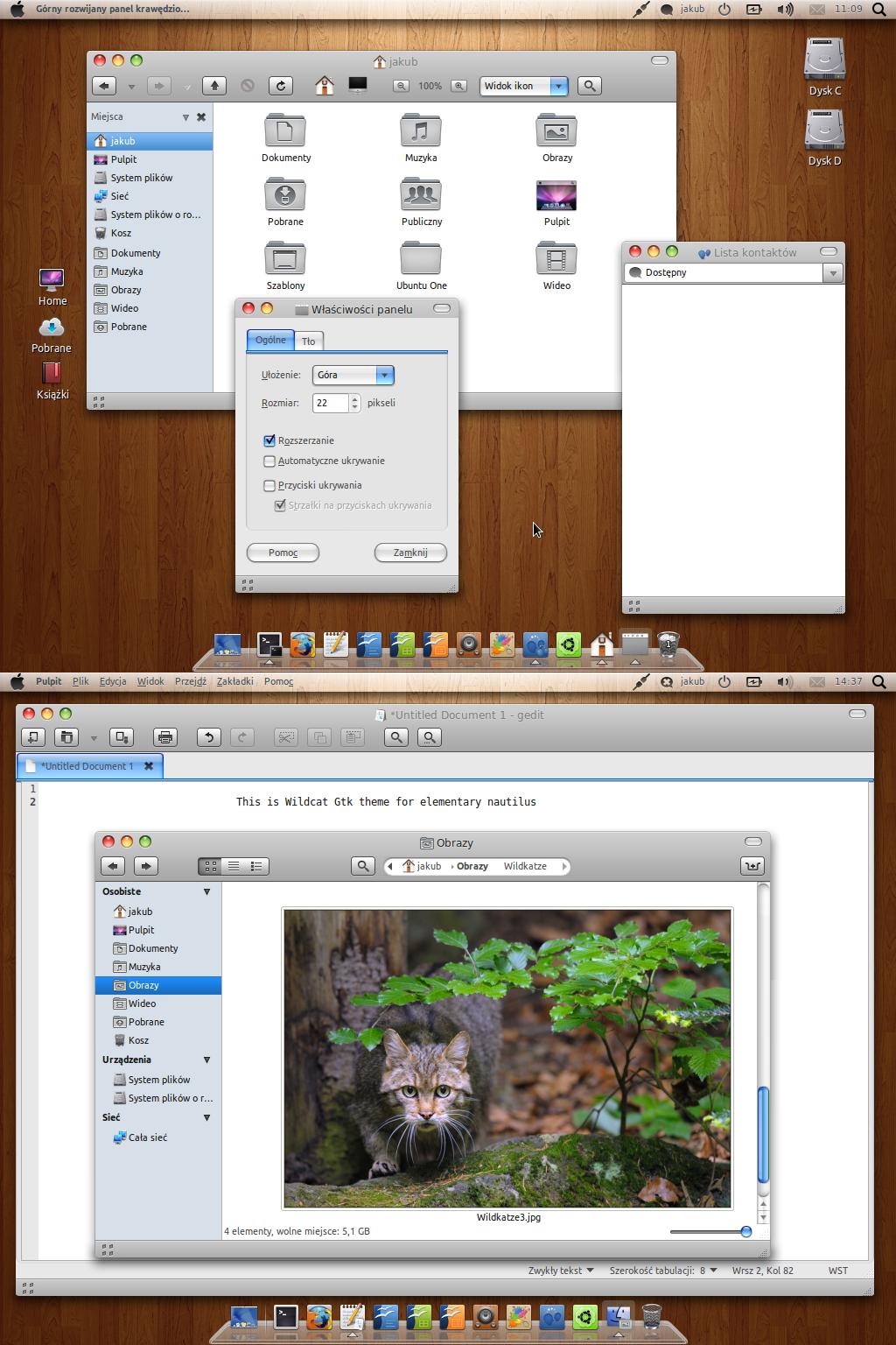 Wildcat Gtk Theme 1.3 by Dolsilwa