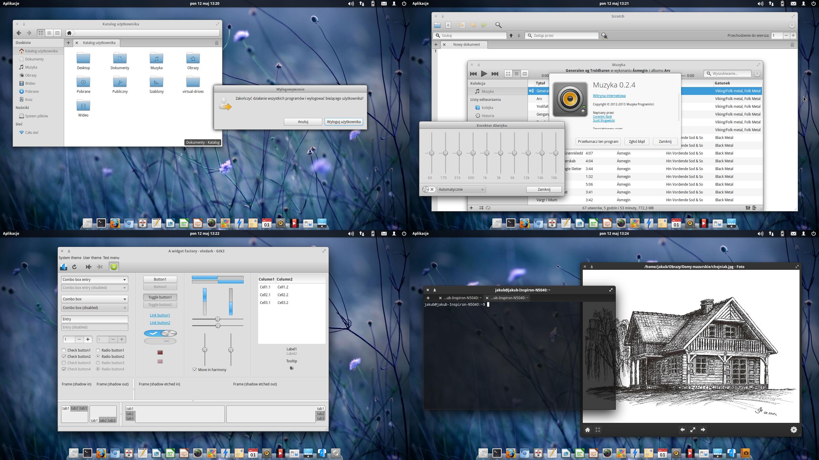 elementary OS eGtk theme modded by Dolsilwa
