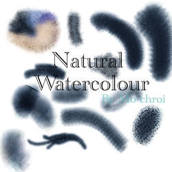 Natural Watercolor Brushset by Mo-Chroi
