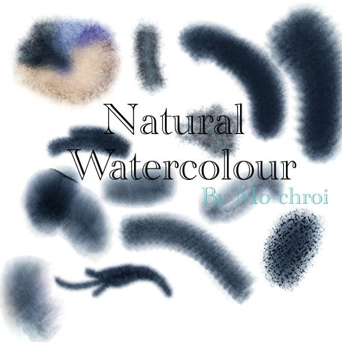 Natural Watercolor Brushset by Mo-Chroi