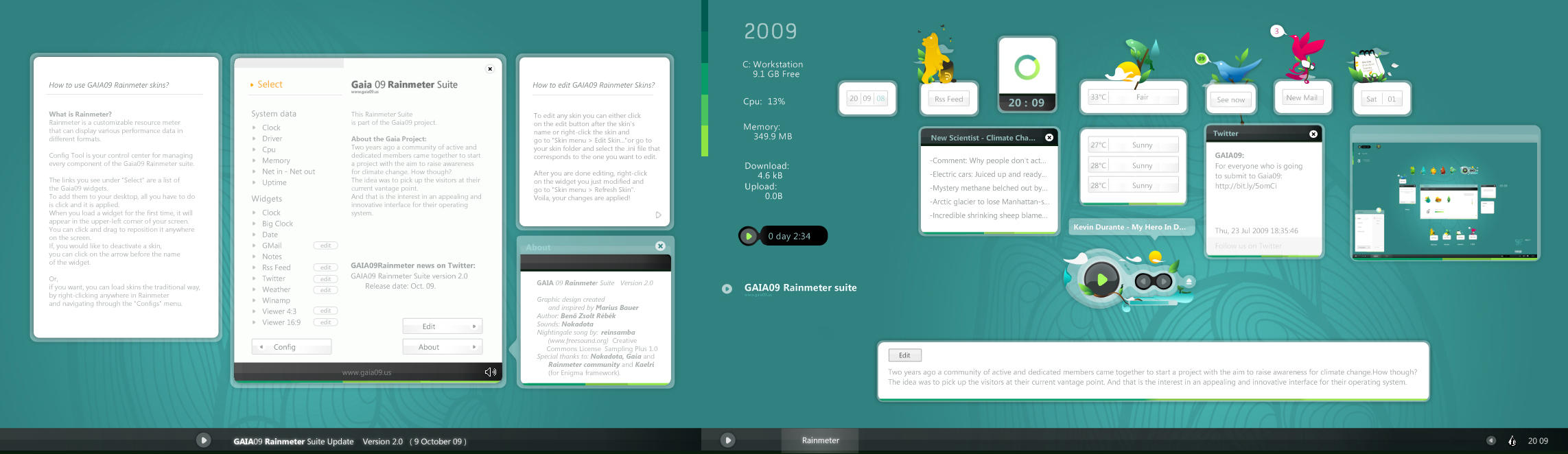 GAIA09 Rainmeter Suite v2.0 by reb70