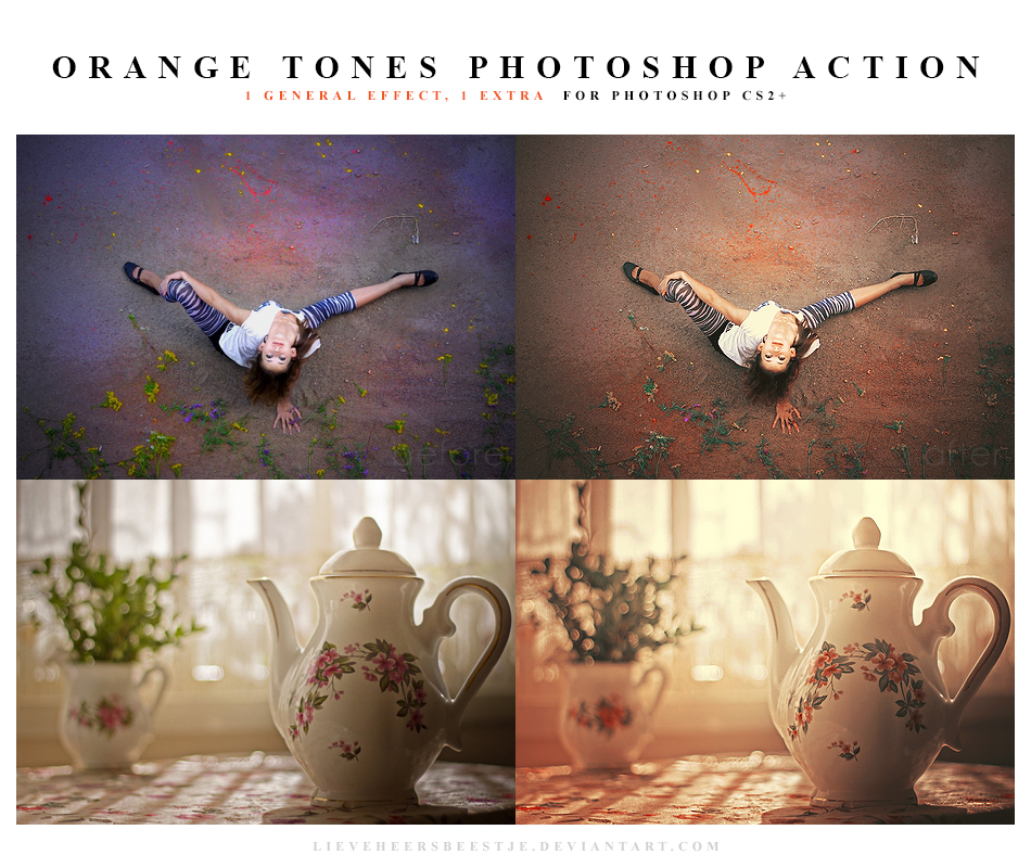 Photoshop Orange tones action by lieveheersbeestje