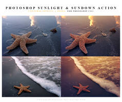 Photoshop sunlight and sundown action