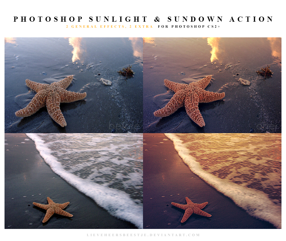 Photoshop sunlight and sundown action by meganjoy