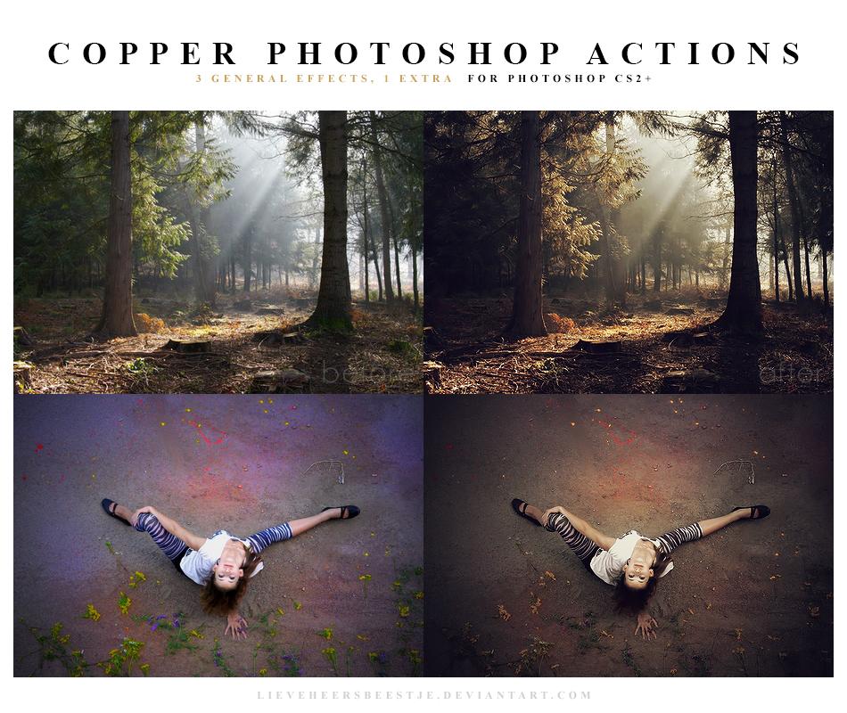 Photoshop Copper Actions by lieveheersbeestje