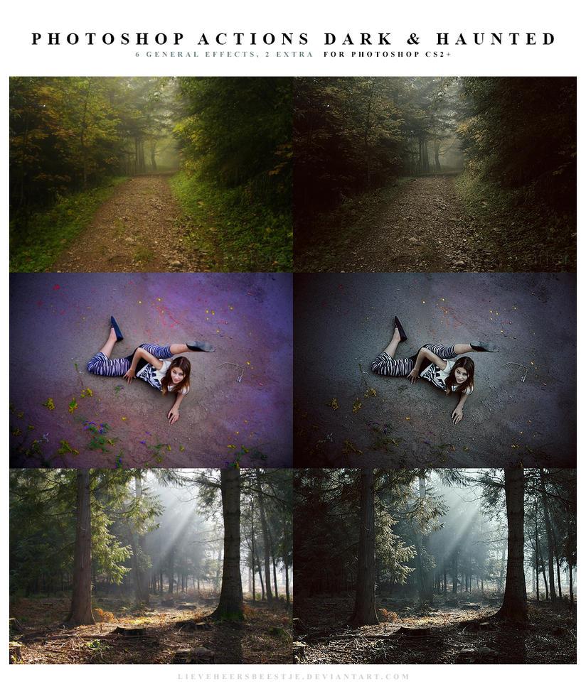 Photoshop Actions dark and haunted by lieveheersbeestje