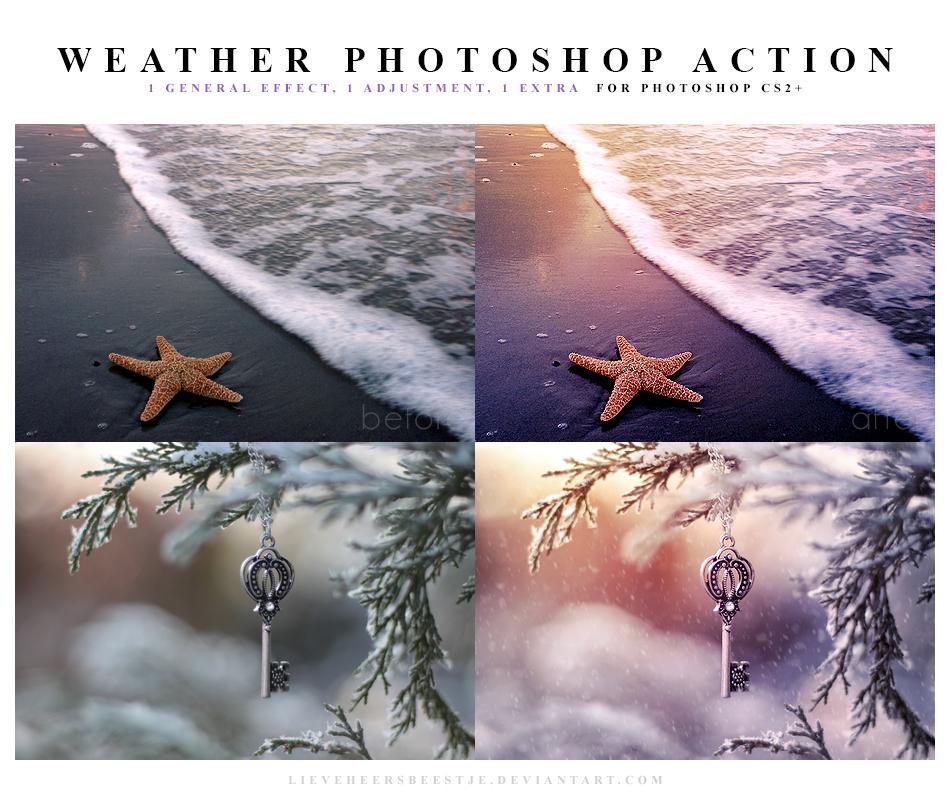 Weather Photoshop Action by meganjoy