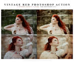 Photoshop vintage red action