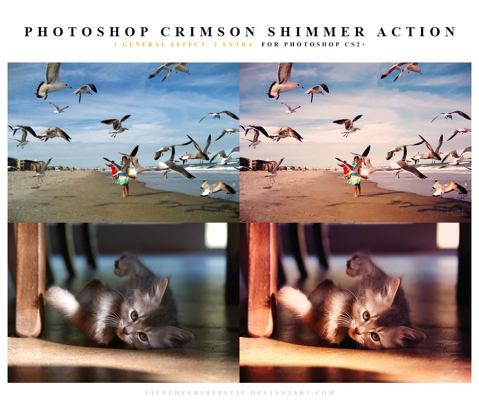 Photoshop Crimson shimmer Action