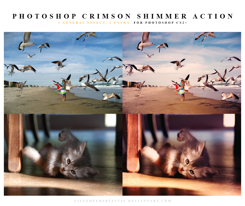 Photoshop Crimson shimmer Action by meganjoy