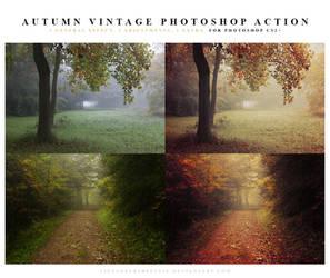 Autumn vintage Photoshop Action by meganjoy