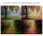Autumn vintage Photoshop Action
