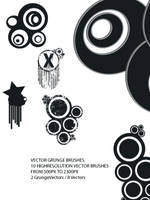 Vector Grungy Brushes by rAwtec
