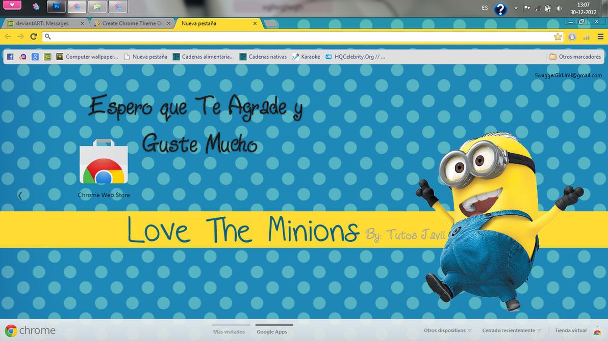 Google themes minions - Love The Minions Tgchrome By Javizamorano