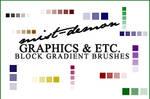 Block Gradient Brushes