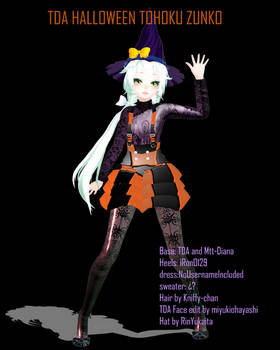 TDA Halloween Tohoku Zunko Download