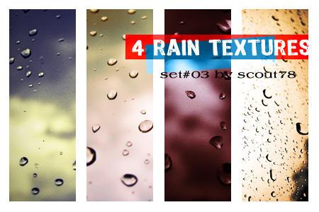 4 rain textures - set 3 by scout78