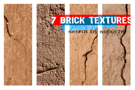 7 brick textures by scout78