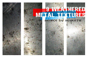 9 weathered metal textures by scout78