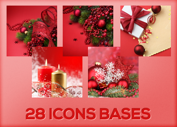 CHRISTMAS icons bases by Monikanarnia