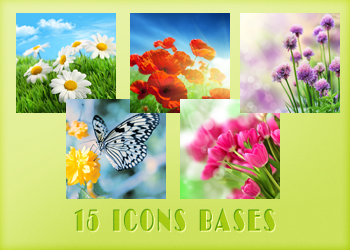 Flowers - Icons Bases by Monikanarnia
