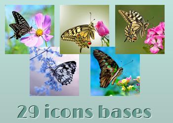 Butterflies - Bases by Monikanarnia