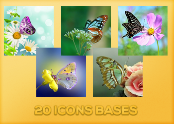 Butterflies - Icons Bases by Monikanarnia