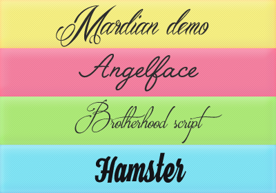 Font Pack 15 by Monikanarnia