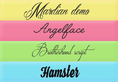 Font Pack 15 by Monikanarnia
