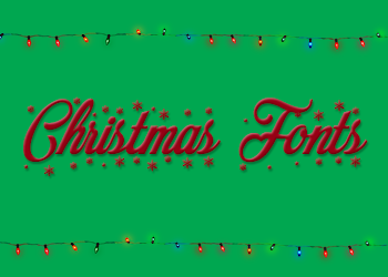Christmas Font by Monikanarnia