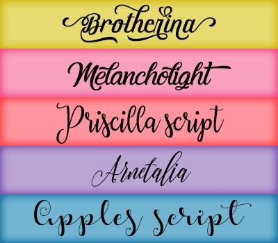 Font Pack 22 by Monikanarnia