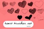 Heart Brushes set